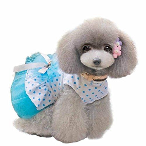 Image of HP95(TM) Pet Dog Dress,2015 Romantic, Lovely, Puppy Dog, Princess, Tutu, Dress (XL, Blue)
