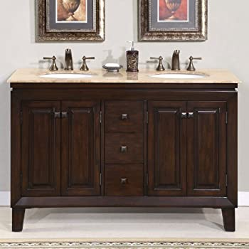 55 Inch Bathroom Vanity. Silkroad Exclusive Travertine Top Double Sink Bathroom Vanity Furniture Cabinet 55 Inch