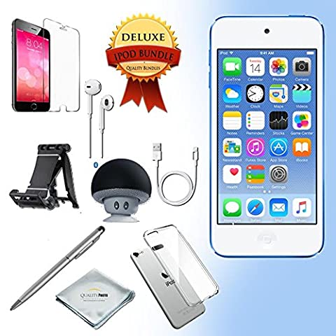 Apple iPod Touch 6th generation 32GB - BLUE + All-in-1 iPod Touch Accessories Kit Bundle (Ipod Classic Generation 1)
