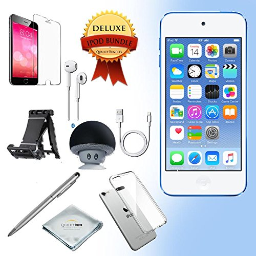 Apple iPod Touch 6th generation 32GB - BLUE with All-in-1 iTouch Accessories Kit Bundle Apple Store Ipod Speakers