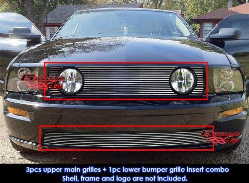 05-09 Ford Mustang GT V8 Billet Grille Grill Combo Insert # (Gt Lower Billet)