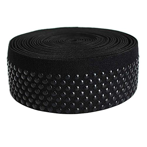 Dot Silicone Elastic Tape No Slip for Garment Accessory & Headband 5Yards per Roll (38mm(FBA))