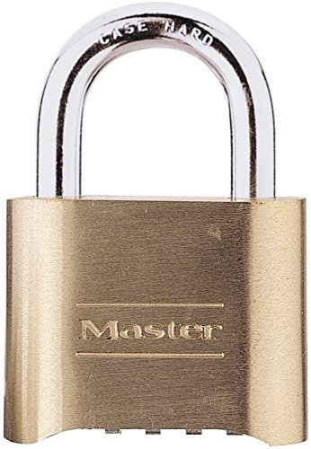 Master Chrome Padlock (Master Lock Padlock, Set Your Own Number Combination Lock, 2 in. Wide, 175D)