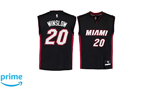 3c1709818 Amazon.com  Justise Winslow Miami Heat  20 Black Road Replica Jersey   Clothing
