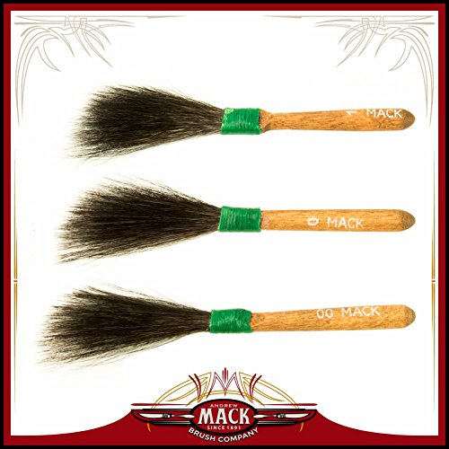 Pinstriping Brush Sword (Set of 3 Size 00-1 Sword Striper Series 20 Pinstriping Touch Up Body Shop Squirrel Hair Brushes)