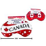 2 Canada Sleep Eye Masks for Home or Travel Purposes. Celebrate Canada's Anniversary.