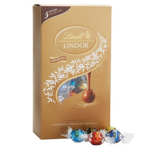 Lindt LINDOR Assorted Chocolate Box, Kosher, 120 Truffles, 50.8 Ounce