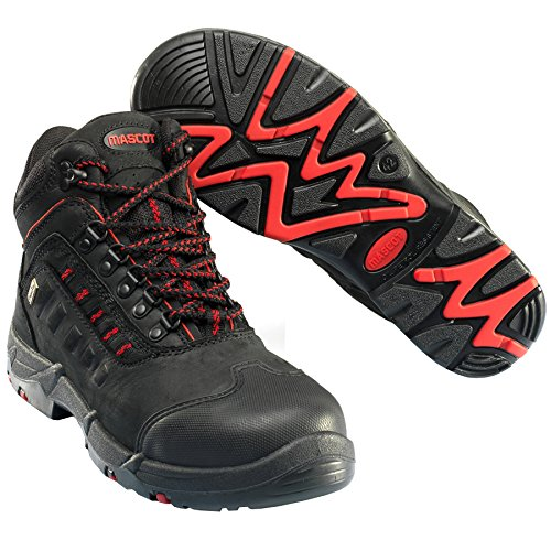 Mascot F0025-901-0902-1147 Kenya Safety Boot, W11/47, Black by Mascot