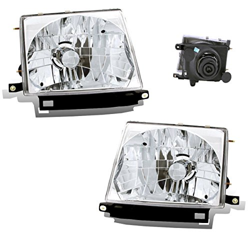 SPPC Headlights Chrome Assembly Set For Toyota Tacoma - (Pair) Driver Left and Passenger Right Side Replacement Headlamp