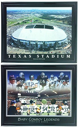 (NFL Football Dallas Cowboys Framed Prints Texas Stadium Set of 2 LL5013)