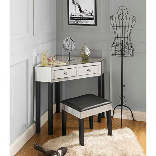 Inspired Home Black Mirrored Vanity Set - Design: Amaris for sale  Delivered anywhere in USA