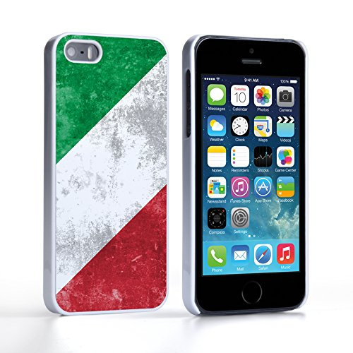 Caseflex iPhone 5 / 5S Hülle Retro Italien Flagge Hart Schutzhülle