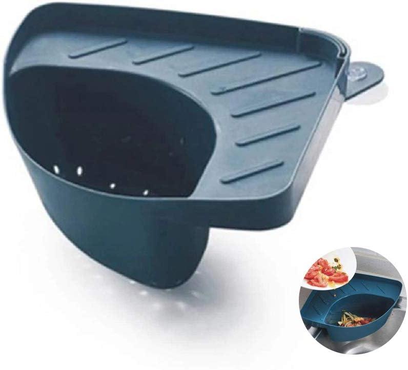 Rose Porte-filtre /à r/ésidus alimentaires /Évier de cuisine Passoire dangle Passoire Panier Support de rangement pour /évier triangulaire /Étag/ère de drainage avec ventouse pour cuisine Salle de bain