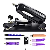 Realdios Multiple Speed Love Sex Machine Gun for Women And Lesbian,Adjustable Fucking Machine Different Modes ,Pumping & Thrusting Automatic Dildo Retractable G-Spot Masturbation Toy(AZ3)