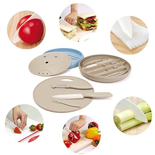 Baban Obst Messer Gabeln Slicer Schneidebrett Keramik Messer Gabeln Set Mutilfunktions Tool Kit Handwerkzeug in Küche Bar Cafe