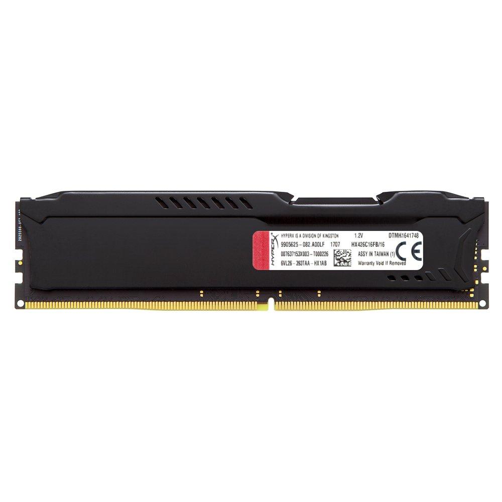 Kingston Technology HyperX FURY Black 16GB 2666MHz DDR4 CL16 DIMM (HX426C16FB/16) by HyperX (Image #2)
