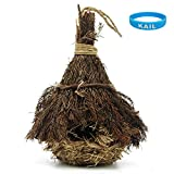 Cheap KAIL Natural Birdhouse bird houses,Wild Bird Nest,Hanging Grass Weave Rope Pocket with Roof Pine (Pine-S)