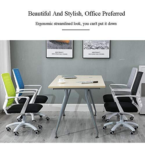Kontorsstol, vacker och stilren, det första valet för moderna kontor, fyra färger valfri datorstol (färg: B)