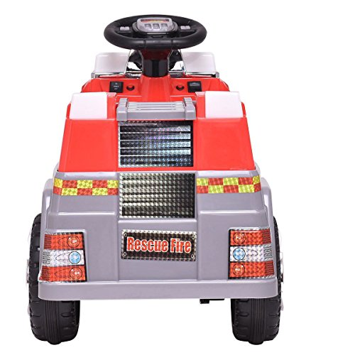 (choice 6 V Kids Ride On Rescue Fire Truck Products)