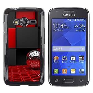 Paccase / Dura PC Caso Funda Carcasa de Protección para - Interior Design Black Red Bling Ball Silver - Samsung Galaxy Ace 4 G313 SM-G313F