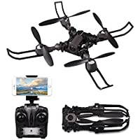 FPV Drone with Camera Live Video, RC Drones for Kids Beginners, Rolytoy Foldable Arms Training Quadcopter 720P HD 2.4GHz Wifi Headless Mode Altitude Hold