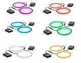 Tailgating Pros Premium 36 LED Cornhole Light Ring Set - 6 Color Options + Multicolored (Multi-Color)
