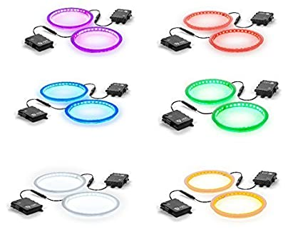 6 Color Options Multicolored Tailgating Pros Premium 36 LED Cornhole Light Ring Set