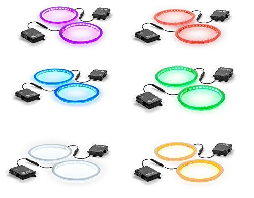 Tailgating Pros Premium 36 LED Cornhole Light Ring Set - 6 Color Options + Multicolored (Multi-Color)