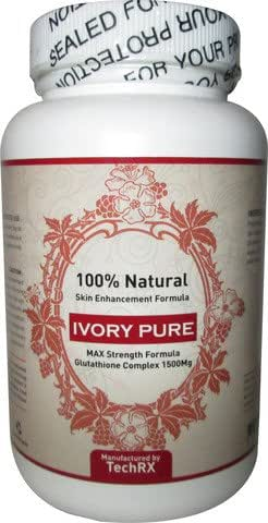 IVORY PURE Skin Whitening Max Glutathione 1500 mg Pills Pill