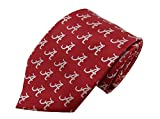 Donegal Bay NCAA Alabama Crimson Tide Repeating Primary Necktie, One Size, Crimson