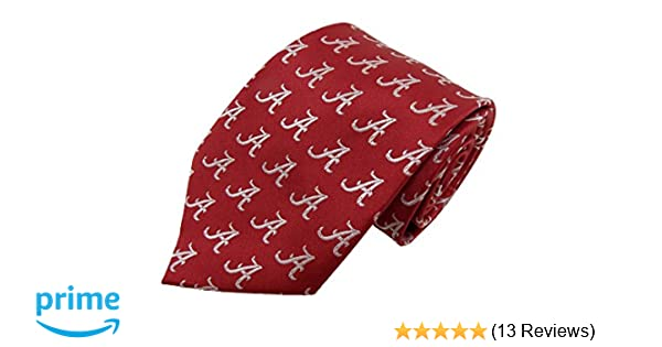 One Size Crimson Donegal Bay NCAA Alabama Crimson Tide Solid Color Necktie