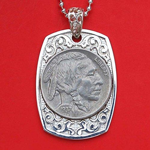 buffalo head nickel necklace - 2