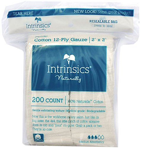 Intrinsics Petite Cotton 12 Ply Gauze   2 X2   Med Esthetic 100  Naturelle Cotton  200 Count