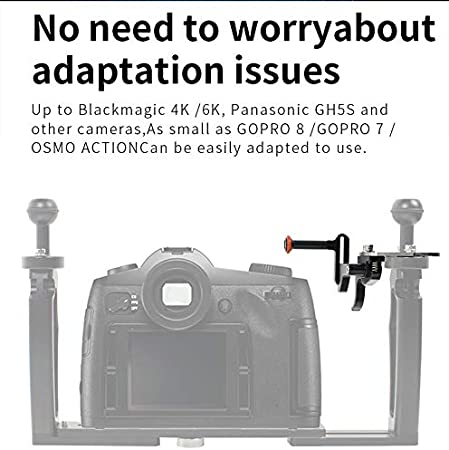 Sport Camera Photography Accessories for Micro Single Action Camera SLR Camera Waterproof Case XT-XINTE Adjustable Shutter Extension Lever Diving Action Camera Bracket Black