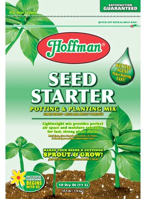 Hoffman 30103 Seed Starter Soil, 10 Quarts (Soilless Mix)