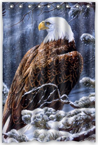 Funny Design Eagle Shower Curtain 48quotw X 72quoth
