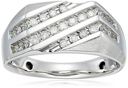 Mens-10k-White-Gold-White-Diamond-12cttw-Ring-Size-105