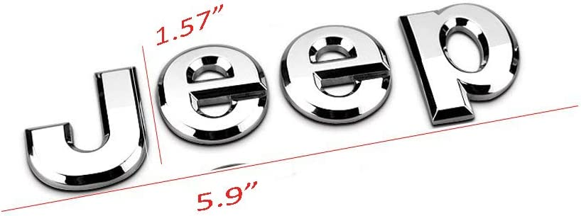 sliver 3D Sticker jeep Front Bonnet Emblem Boot Words jeep Head Hood Logo Sticker Wrangler Grand Cherokee Liberty Compass