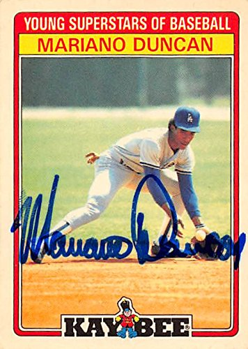 Autograph 126137 Los Angeles Dodgers 1986 Kaybee No. 8 Mariano Duncan Autographed Baseball Card ()