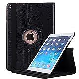 iPad Mini 4 Case A1538/A1550, Sammid 360 Degree Rotating PU Leather Book Cover Design Case for iPad Mini 4 - Black