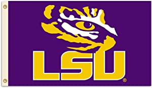 BSI NCAA LSU Tigers 2-Sided 3 x 5-Feet Flag with Grommets (92115)