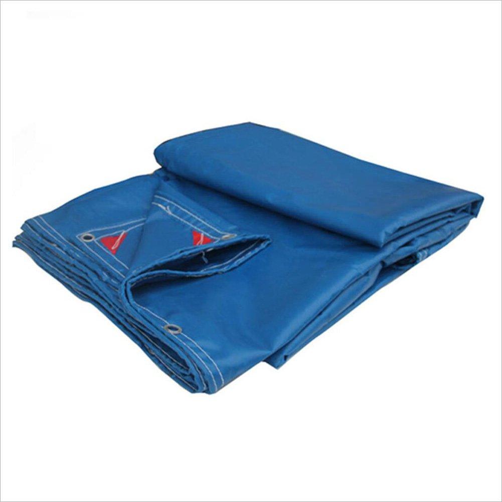 PENGFEI ターポリン オーニング 防水 カーポート 雨布 ピクニックマット 防湿性 防塵の 日焼け止め シェード PVC、 厚さ0.6mm、 600G/m2 (色 : 青, サイズ さいず : 4x6m) B07D9K5GD7 4x6m|青 青 4x6m