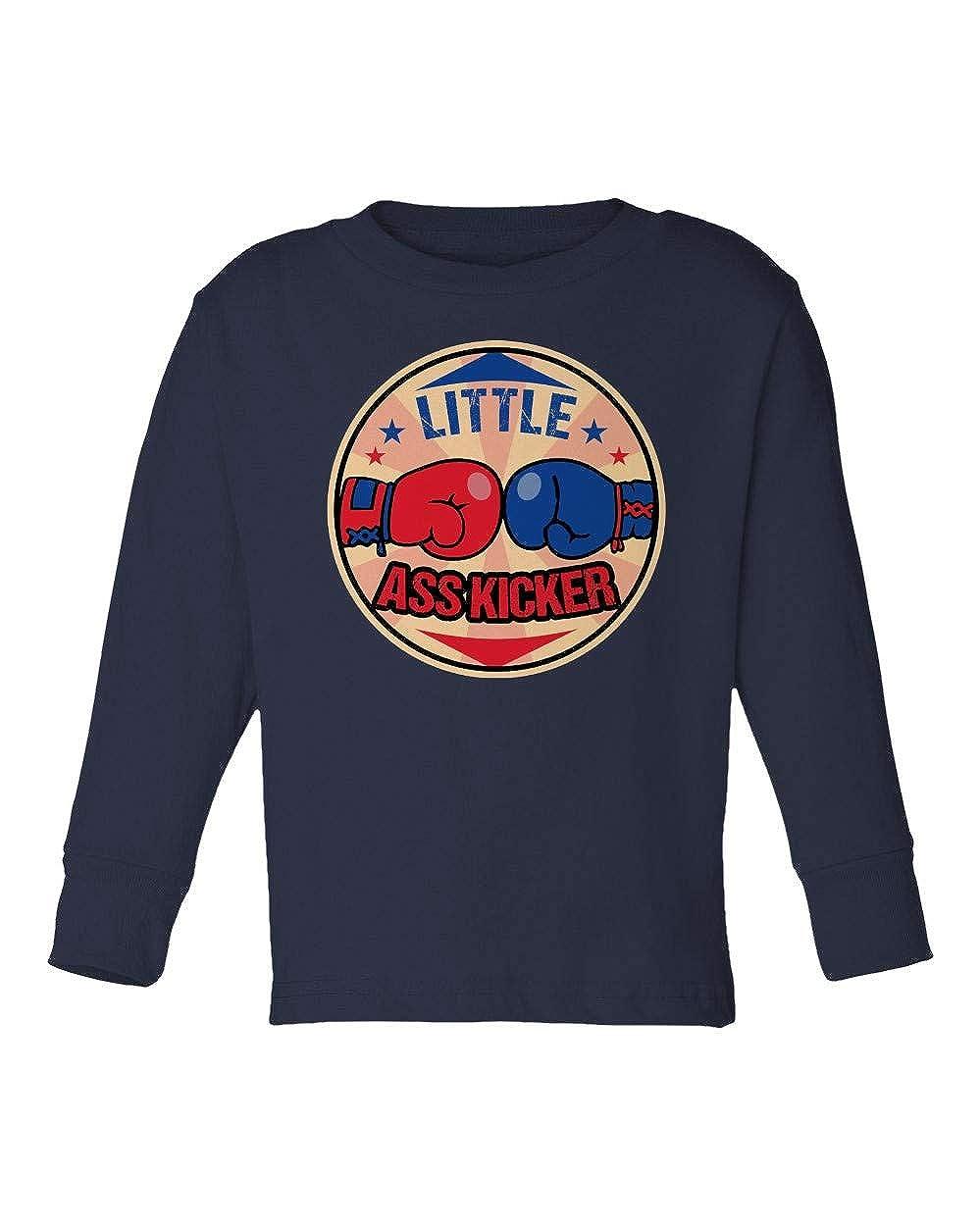 Societee Little Ass Kicker Boxing Walking Dead Funny Girls Boys Toddler Long Sleeve T-Shirt