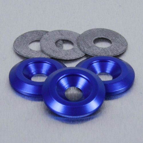 Aluminium Countersunk Washer M8 Blue