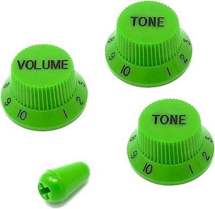 "Potiknob Small no/'s /""Volume/"" Yellow fits Strat® with Metric pots MIY"