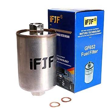 ifjf gf652 (ff3504dl) professional fuel filter for chevy tahoe, chevrolet gmc 1500 k1500 c1500 2500 c2500 k2500 3500 k3500 c3500, silverado, suburban, chevy fuel filter removal tool chevy fuel filter #7