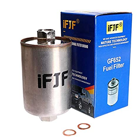 ifjf gf652 (ff3504dl) professional fuel filter for chevy tahoe, chevrolet gmc 1500 k1500 c1500 2500 c2500 k2500 3500 k3500 c3500, silverado, suburban, Fuel Filter Cross Reference