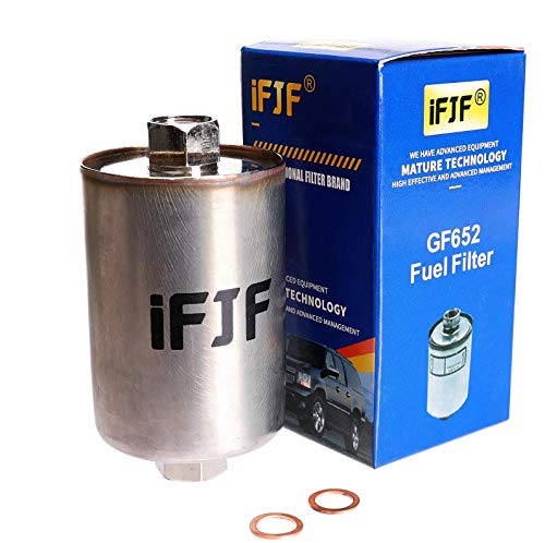 iFJF GF652 (FF3504DL) Professional Fuel Filter for Chevy Tahoe, Chevrolet/GMC 1500 K1500 C1500 2500 C2500 K2500 3500 K3500 C3500, Silverado, Suburban, Sierra, Express, Avalanche Replaces WIX 33481