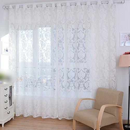 European style Tulle Door Window Screening Curtain Drape Panel Sheer Scarf Valances Tulle Vanity