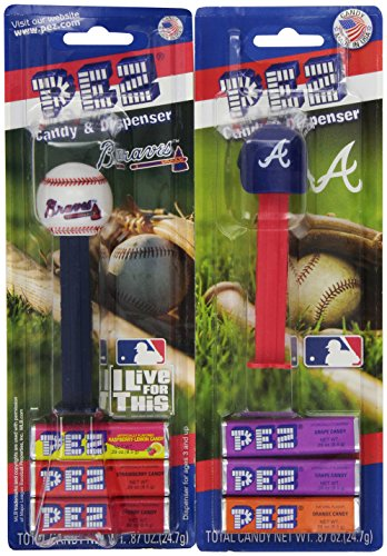 (PEZ MLB Atlanta Braves, 0.87-Ounce Candy Dispensers (Pack of 12))